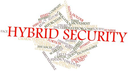 warrant: Abstract word cloud for Hybrid security with related tags and terms