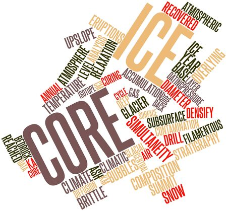 Abstract word cloud for Ice core with related tags and terms Stock Photo - 16500651