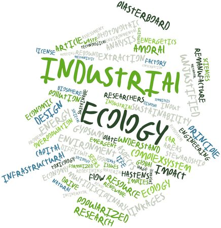 ecologists: Abstract word cloud for Industrial ecology with related tags and terms