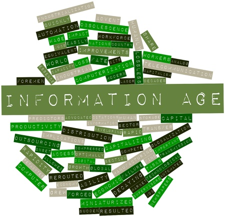 Abstract word cloud for Information Age with related tags and terms Stock Photo - 16499664