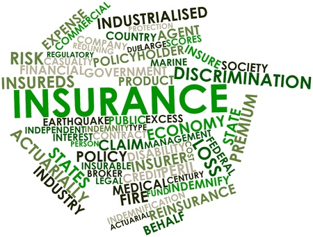 Abstract word cloud for Insurance with related tags and terms Stock Photo - 16499601