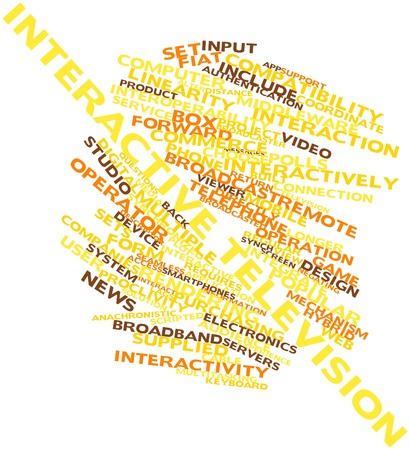 Abstract word cloud for Interactive television with related tags and terms Stock Photo - 16500073