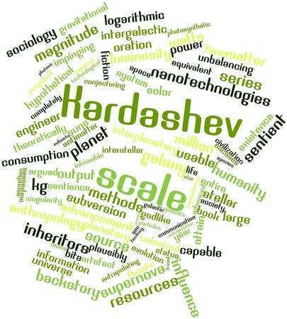 infeasible: Abstract word cloud for Kardashev scale with related tags and terms
