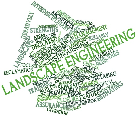 declaring: Abstract word cloud for Landscape engineering with related tags and terms