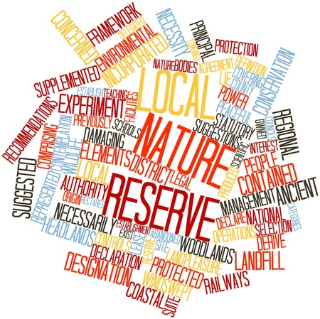 derive: Abstract word cloud for Local nature reserve with related tags and terms