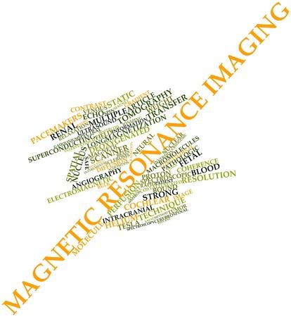 resonancia magnetica: Nube palabra abstracta por resonancia magnética con etiquetas y términos relacionados