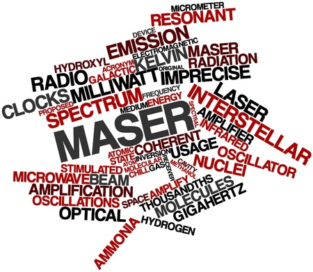 oscillations: Abstract word cloud for Maser with related tags and terms