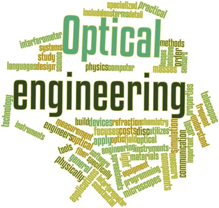 Abstract word cloud for Optical engineering with related tags and terms Stock Photo - 16500493