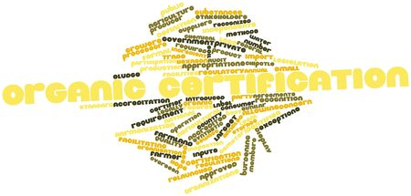 Abstract word cloud for Organic certification with related tags and terms Stock Photo - 16499426