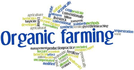 hectare: Abstract word cloud for Organic farming with related tags and terms