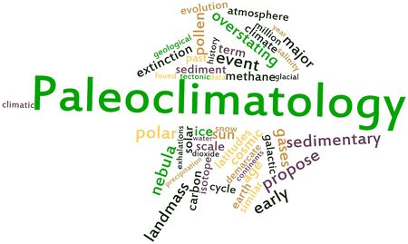 Abstract word cloud for Paleoclimatology with related tags and terms
