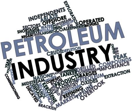 관련 태그 및 용어와 석유 산업에 대 한 추상 단어 구름