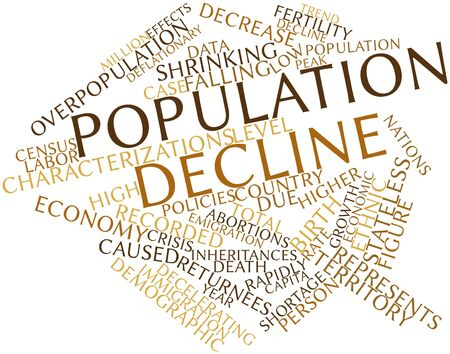 long recovery: Abstract word cloud for Population decline with related tags and terms
