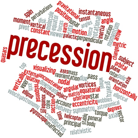 Abstract word cloud for Precession with related tags and terms photo