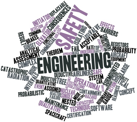 probability: Abstract word cloud for Safety engineering with related tags and terms