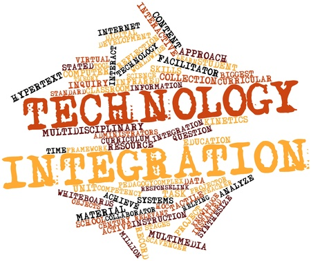 Abstract word cloud for Technology integration with related tags and terms Stock Photo - 16500579