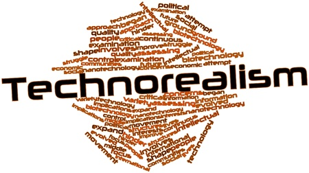 evolved: Abstract word cloud for Technorealism with related tags and terms