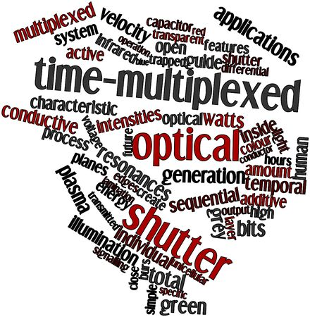 Abstract word cloud for Time-multiplexed optical shutter with related tags and terms Stock Photo - 16500840
