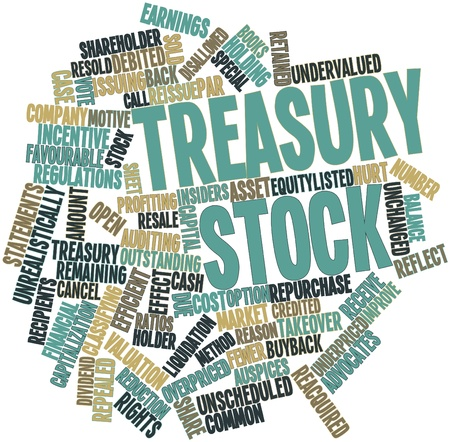 advocates: Abstract word cloud for Treasury stock with related tags and terms Stock Photo