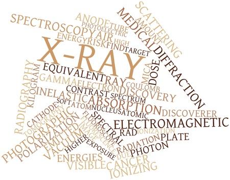 descubridor: Nube palabra abstracta para rayos X con las etiquetas y t�rminos relacionados