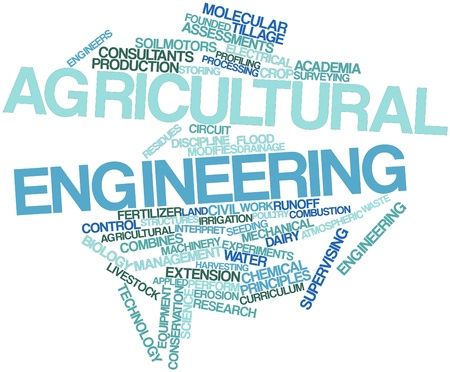 Abstract word cloud for Agricultural engineering with related tags and terms photo