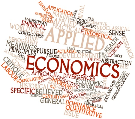 Abstract word cloud for Applied economics with related tags and terms Stock Photo - 16502499