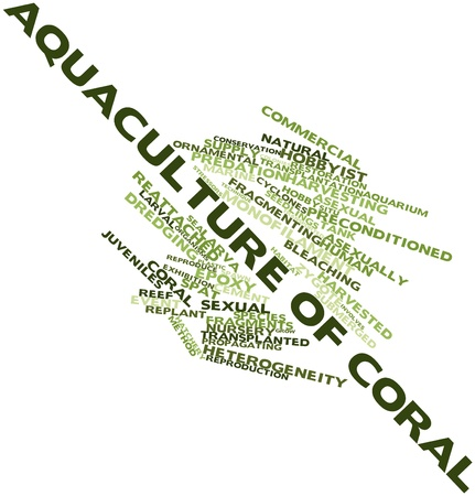 larval: Abstract word cloud for Aquaculture of coral with related tags and terms