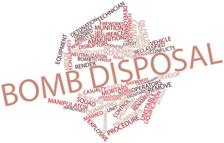 competences: Abstract word cloud for Bomb disposal with related tags and terms