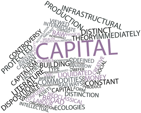 thinkers: Abstract word cloud for Capital with related tags and terms