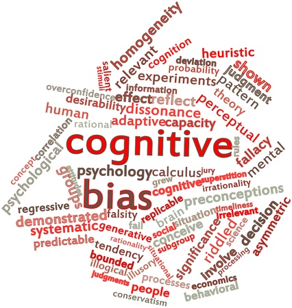 cognitive: Abstract word cloud for Cognitive bias with related tags and terms