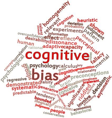 correlation: Word cloud astratto per distorsione cognitiva con tag correlati e termini Archivio Fotografico