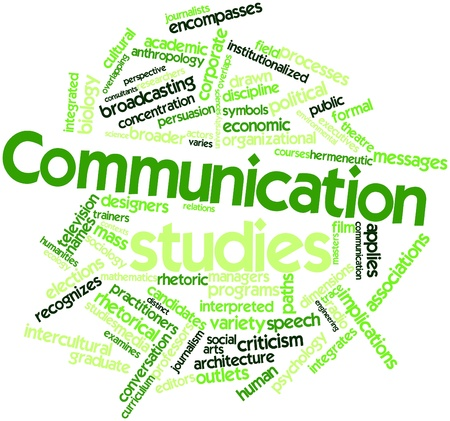 Abstract word cloud for Communication studies with related tags and terms Stock Photo - 16502136
