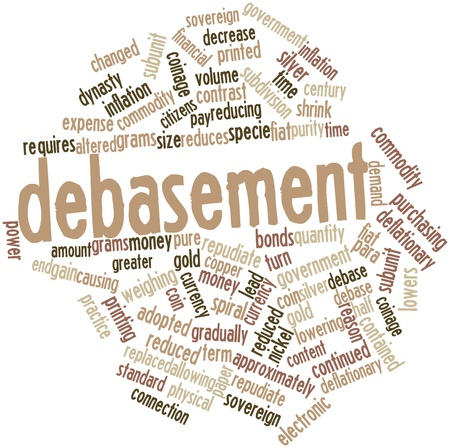 lowers: Abstract word cloud for Debasement with related tags and terms