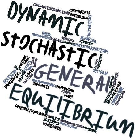 financial institutions: Abstract word cloud for Dynamic stochastic general equilibrium with related tags and terms