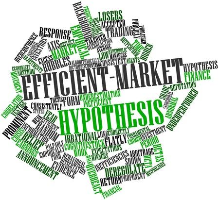 ipotesi: Word cloud astratto per Efficiente-market ipotesi con tag correlati e termini
