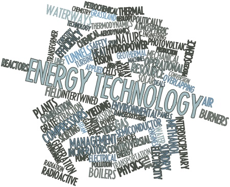 Abstract word cloud for Energy technology with related tags and terms