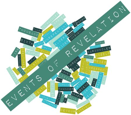 altar: Abstract word cloud for Events of Revelation with related tags and terms