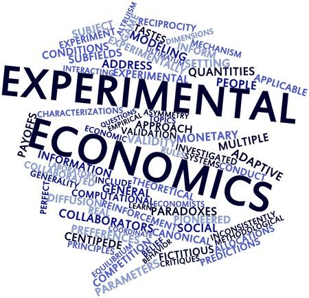 validez: Nube palabra abstracta para economía experimental con las etiquetas y términos relacionados
