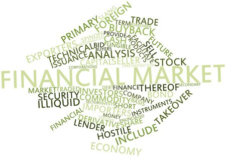borrower: Abstract word cloud for Financial market with related tags and terms