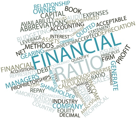 turnover: Abstract word cloud for Financial ratio with related tags and terms