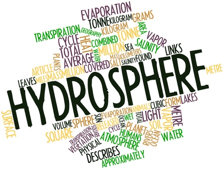 Abstract word cloud for Hydrosphere with related tags and terms photo