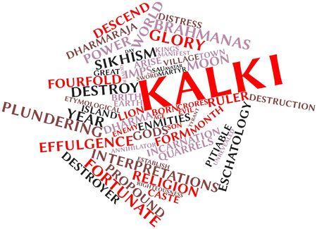 Abstract word cloud for Kalki with related tags and terms Stock Photo - 16501498