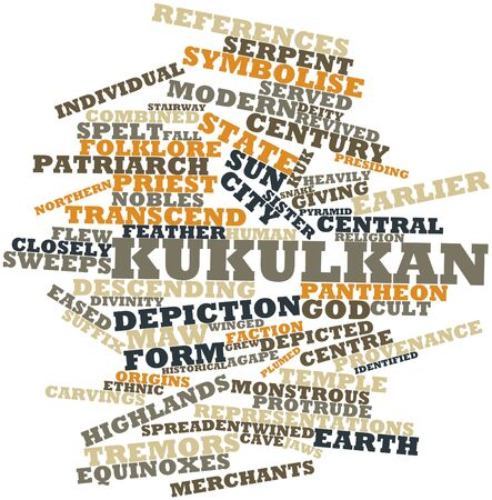 agape: Abstract word cloud for Kukulkan with related tags and terms