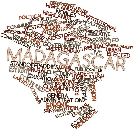 Abstract word cloud for Madagascar with related tags and terms Stock Photo - 16502619