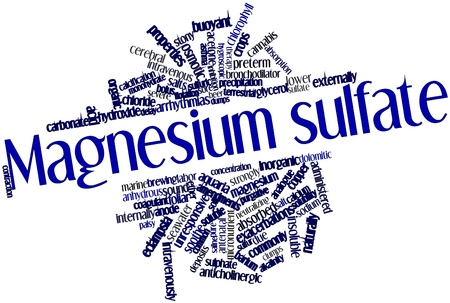 Abstract word cloud for Magnesium sulfate with related tags and terms