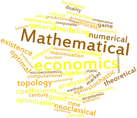 minimization: Abstract word cloud for Mathematical economics with related tags and terms