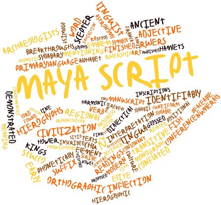 Abstract word cloud for Maya script with related tags and terms Stock Photo - 16502334