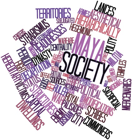 Abstract word cloud for Maya society with related tags and terms Stock Photo - 16502638