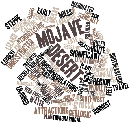 Abstract word cloud for Mojave Desert with related tags and terms Stock Photo - 16502445