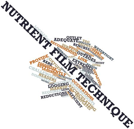 eliminated: Abstract word cloud for Nutrient film technique with related tags and terms